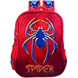 Tinytot Polyester Multicolour Spider Byke Boy's School Bag