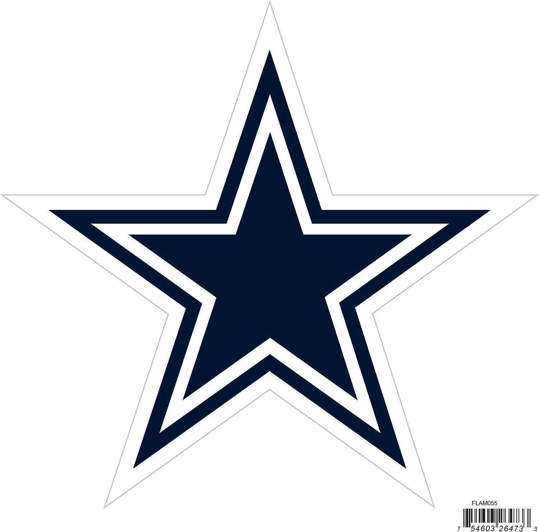 NFL Siskiyou Sports Fan Shop Dallas Cowboys Logo Magnets 8 inch sheet Team Color