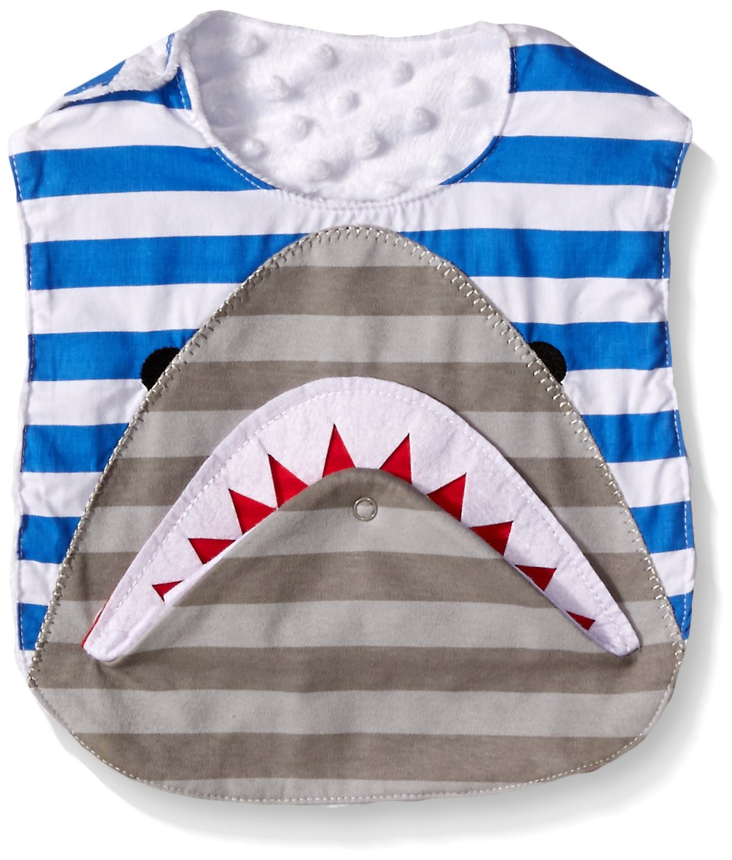 Mud Pie Baby Boys' Applique Bib, Shark Flap, One Size