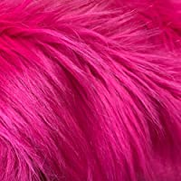 Barcelonetta | Faux Fur Squares | Shaggy Fur Fabric Cuts, Patches | Craft, Costume, Camera Floor & Decoration (Fuchsia…