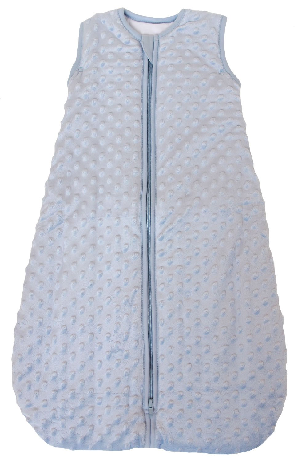 Baby Sleeping Bag ''Minky Dot'' Blue, Quilted Winter Model, 2.5 Tog (Large (22 mos - 3T)) by Baby in a Bag