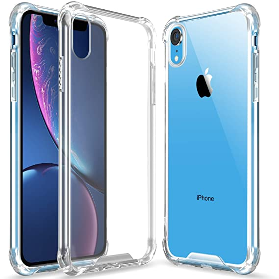 finest selection cce95 115cc Clear iPhone Xr case, Slim Ultra Crystal Clear Case Hybrid Hard  Anti-Scratch Back + Soft Shock Absorption Air Technology TPU Bumper Drop  Protective ...