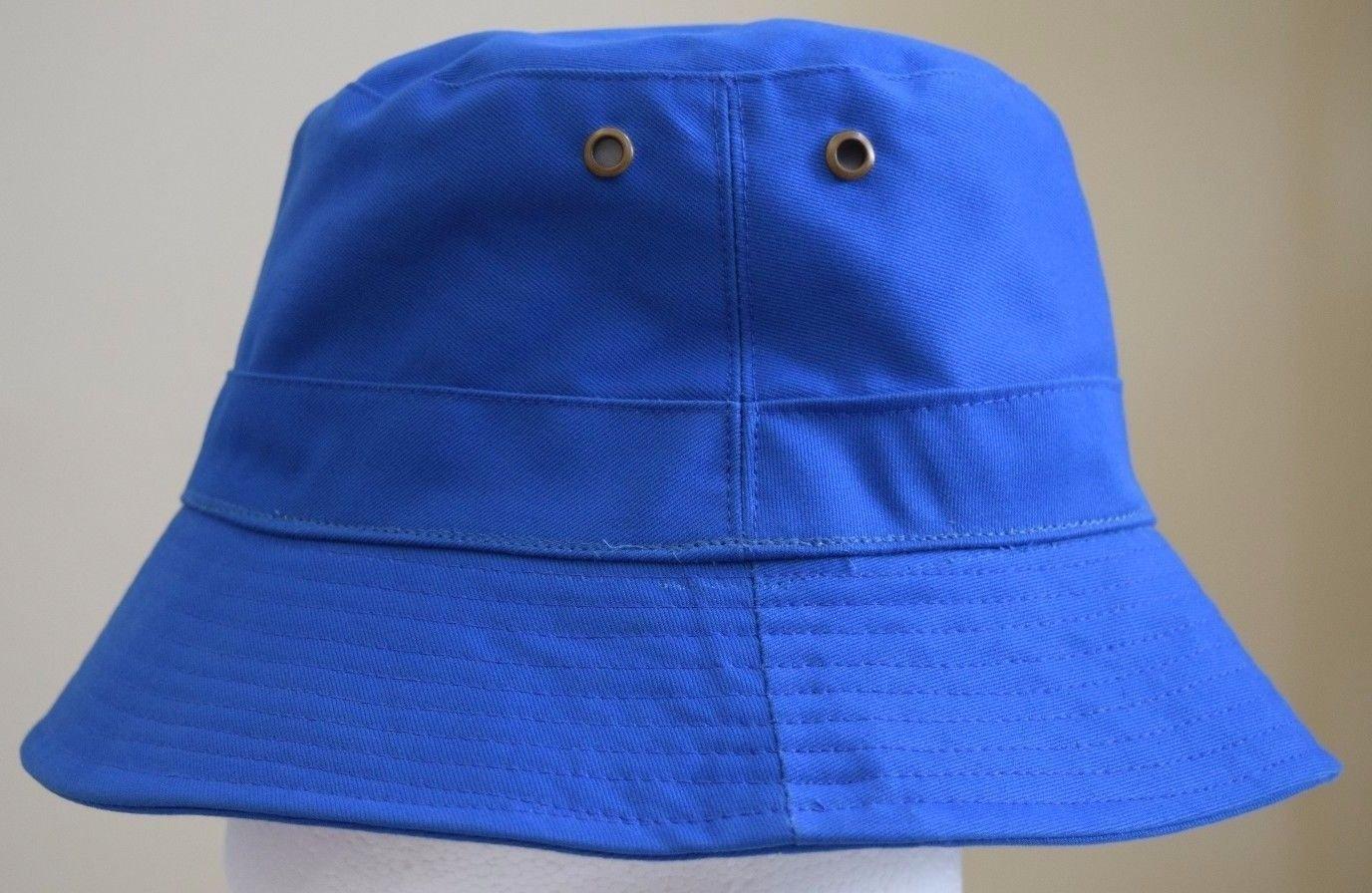 Amazon.com   Royal Blue Bucket Hat Cap Boonie Cotton Fishing Hunting Safari  Sun Men Women Brim   Baby 3738fba454c