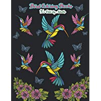 Bird coloring books for elderly adults: Amazing Fun Easy Large Print Adult Bird Coloring Book Activity Stress Relieving Designs for elderly adults Relaxation