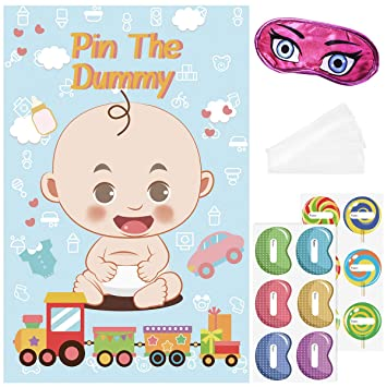 BESTOYARD Baby Shower Games Pin The Chupete The Dummy Game ...