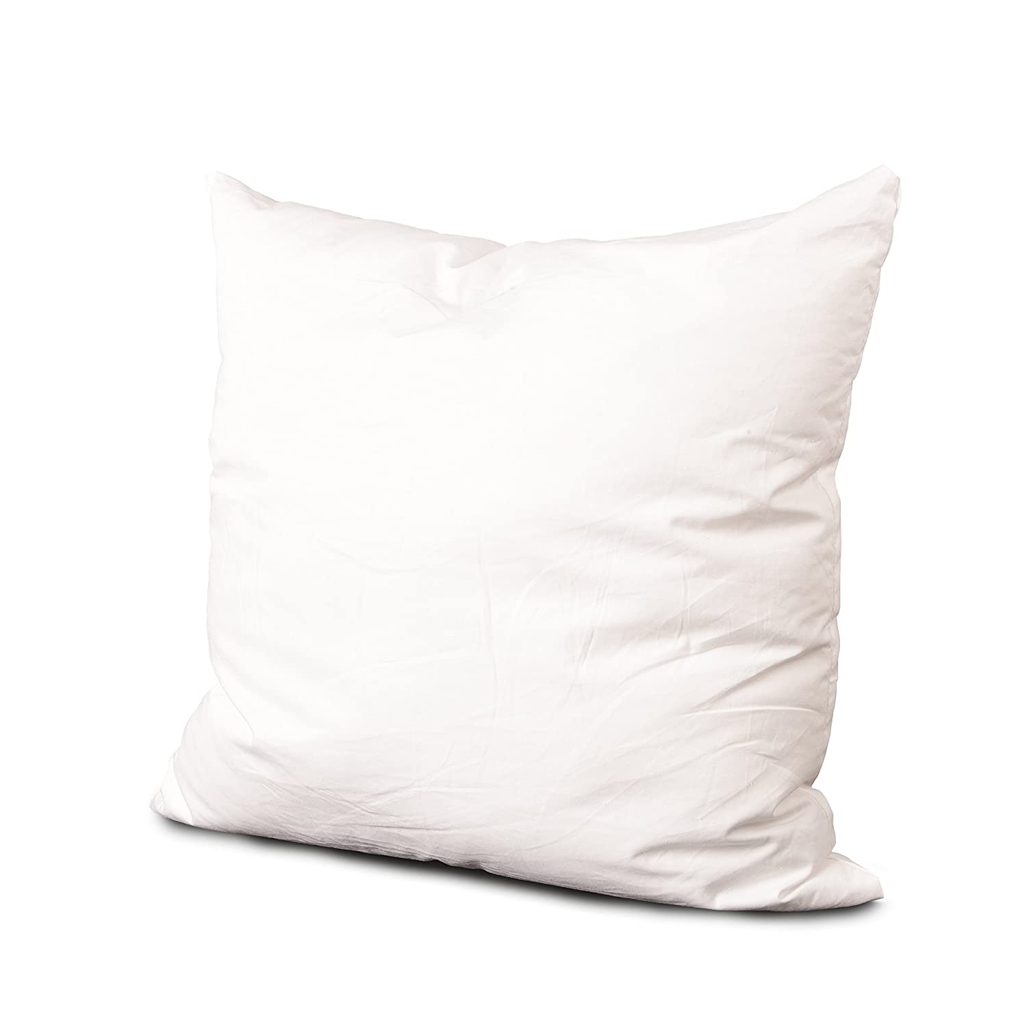 Edow Ultra Soft Decorative Pillow Insert, 10.5 Ounce Lightweight Polyester Down Alternative Square Form Throw Pillow, Sham Stuffer, Machine Washable, Cotton Cover,18 x 18 inches.