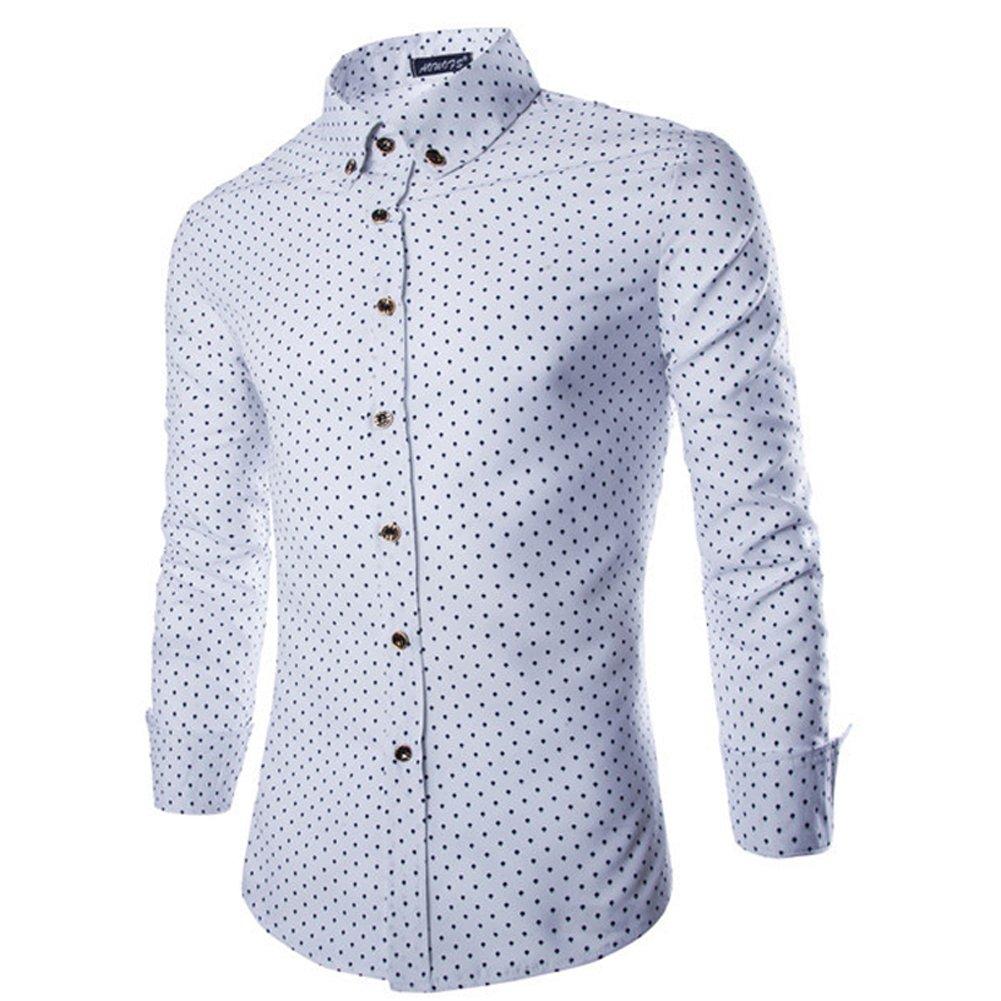Domybest - Camisetas y polos de manga larga para hombre, estilo casual, estilo moderno
