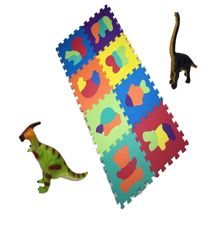 Alfombra infantil puzzle bebe suelo goma espuma eva parque juego ni/ños foami colchoneta protector habitaci/ón bebes juegos manta para zona infantiles acolchado de REGALO una figura de dinosaurio