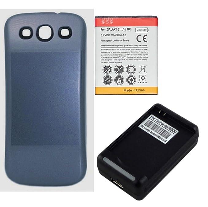 Amazon.com: 4800mAh Batería Extendida con Carcasa Azul + ...