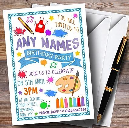 Pintura Artes Y Manualidades Para Niños Fiesta De Cumpleaños