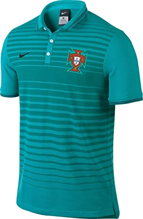 Nike Men s League Portugal Authentic Polo Shirt turquoise turquoise Size M 6eb588d7da5f