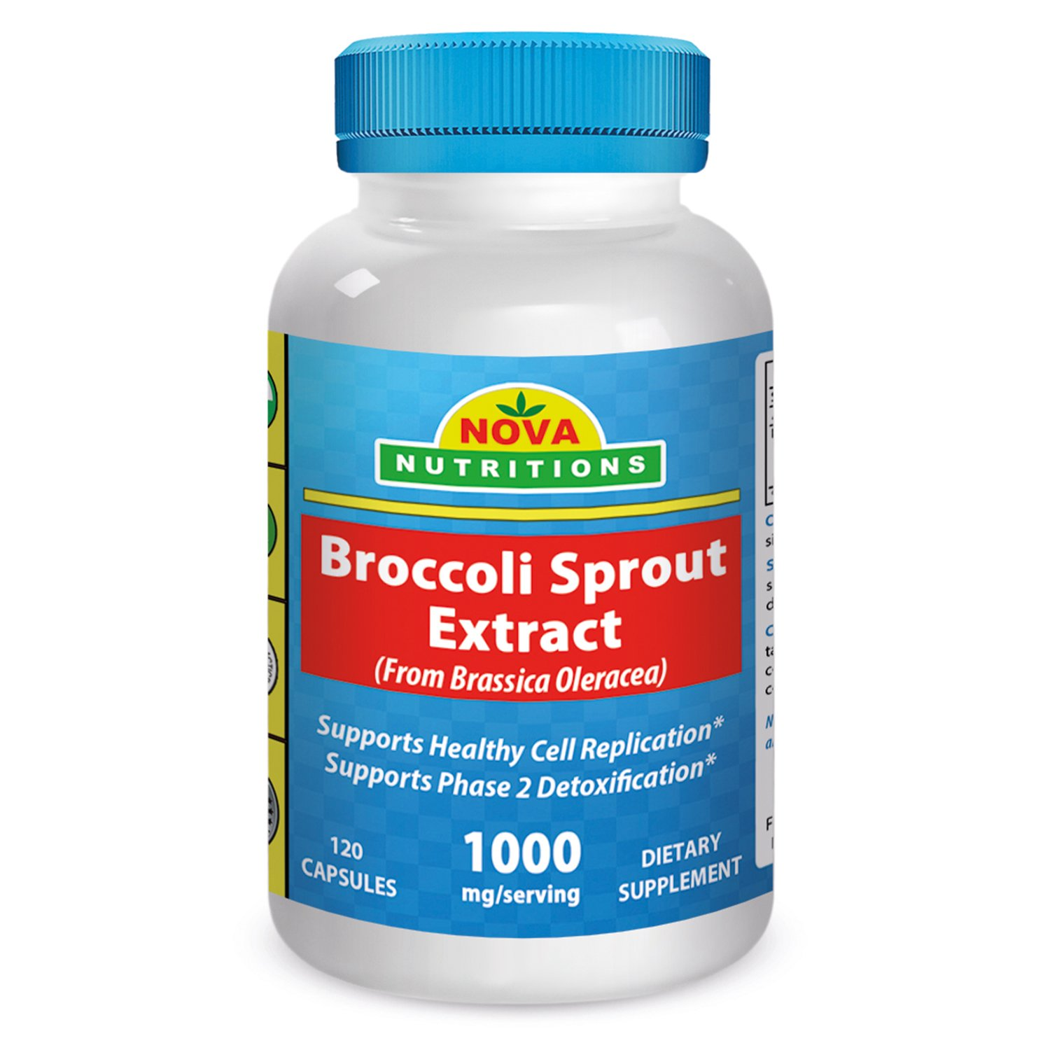 Broccoli Sprout Extract 1000 mg 120 Capsules by Nova Nutritions