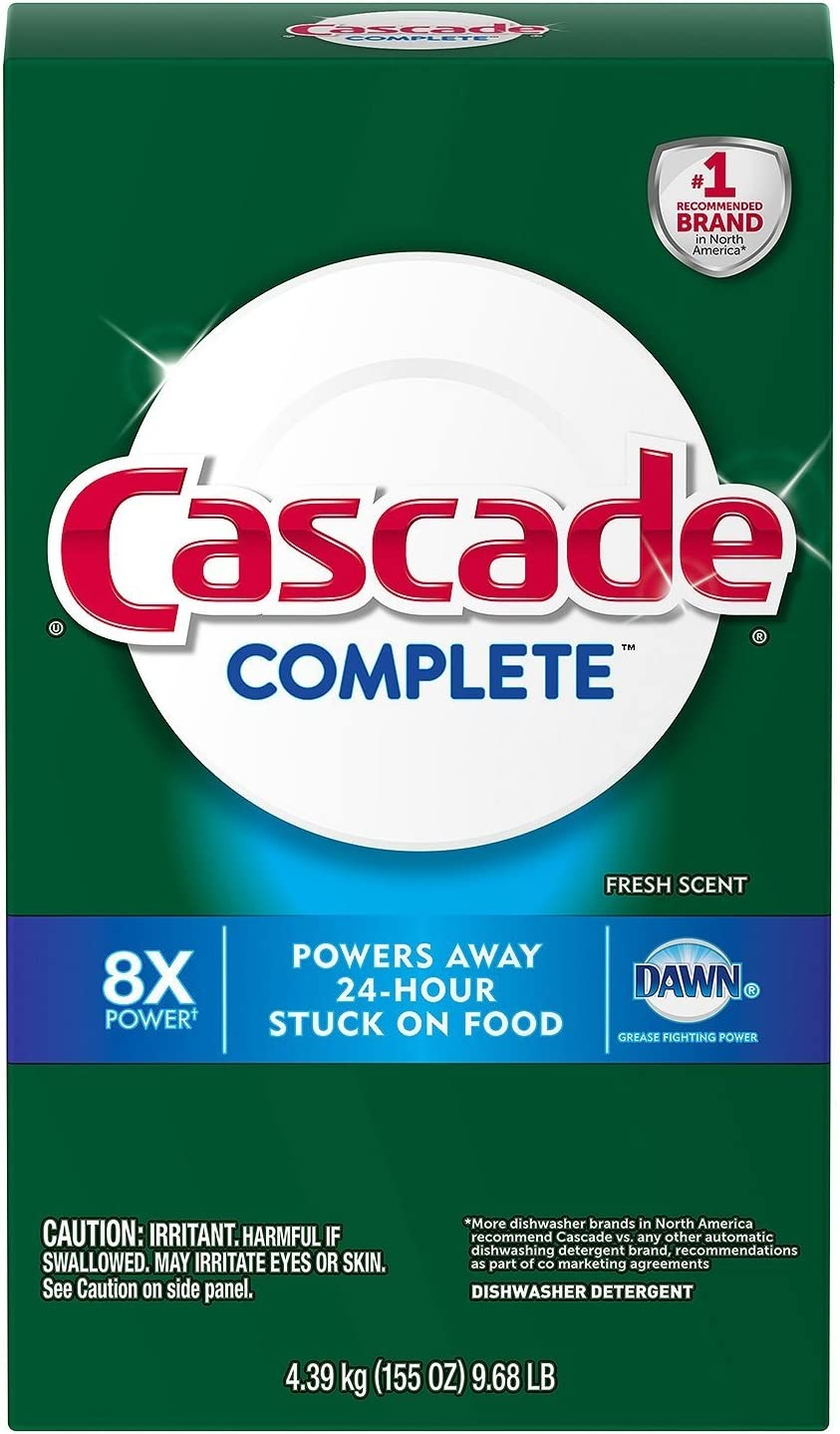 Cascade Complete Powder Dishwasher Detergent, Fresh Scent (155 oz.)