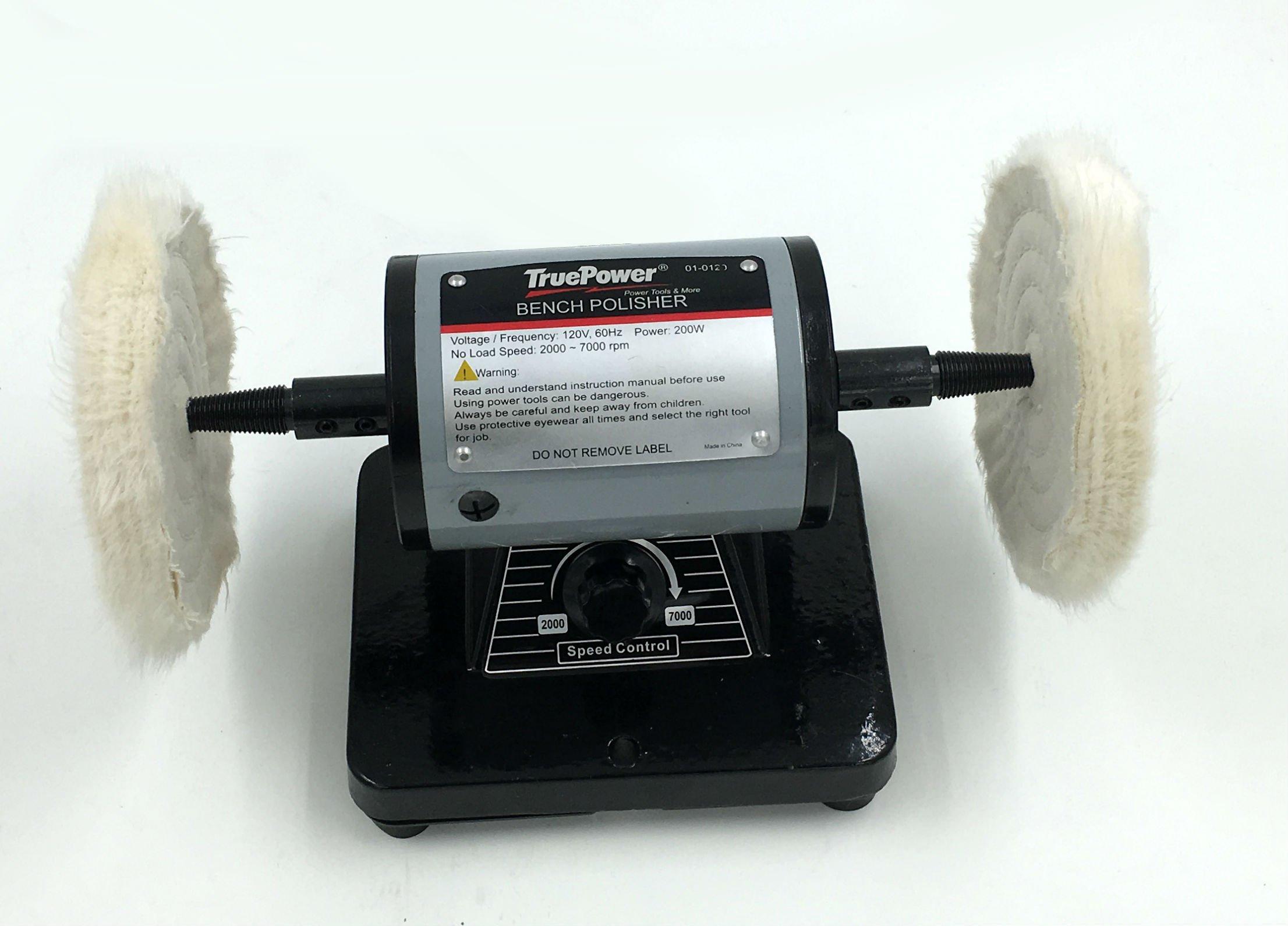 Gino Development 01-0129 TruePower Mini Bench Polishing Machine, Buffer, Polisher, 5''