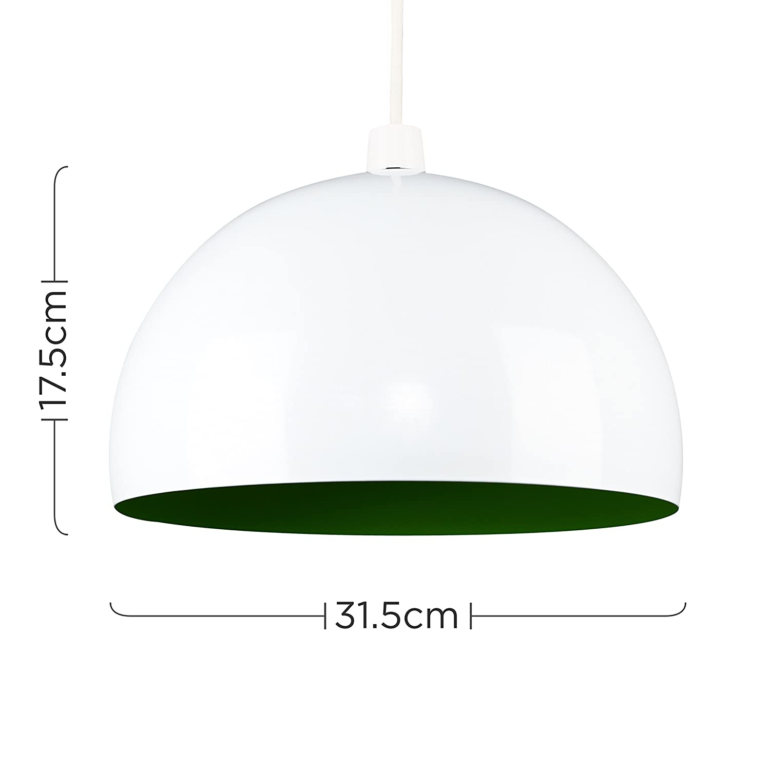 modern gloss red metal dome pendant ceiling light shade amazon co