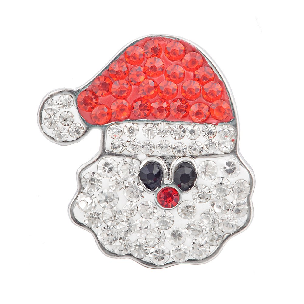 Vocheng Wholesale 3 Colors 18mm Christmas Crystal Button Vn-86820 Pack of 20pcs