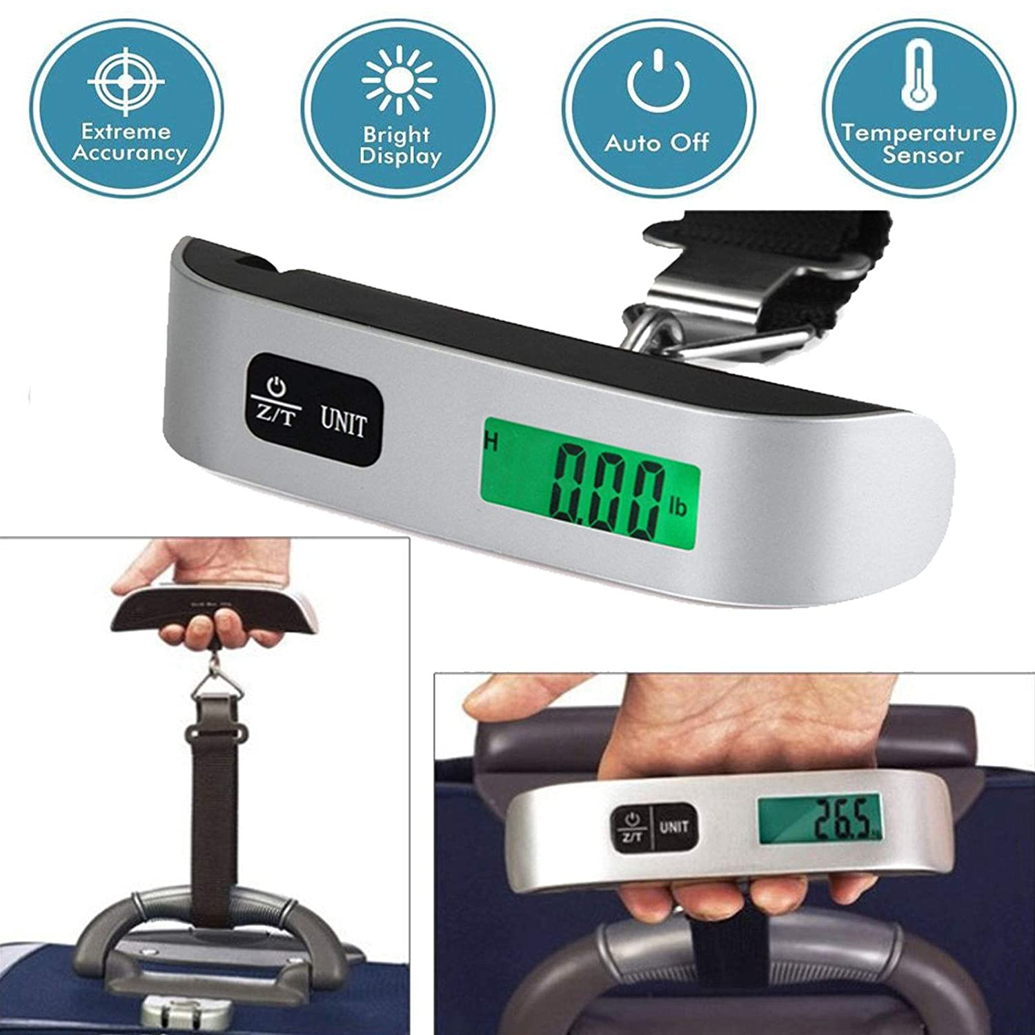 Scale Hanging Portable Luggage LCD Digital Weight Travel Lcd 50kg Electronic Suitcase