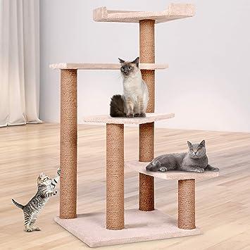 Leopet - Rascador para Gatos Árboles Gato Rascador Árbol para Gatos Escalada algodón Gato Muebles 100 cm: Amazon.es: Productos para mascotas