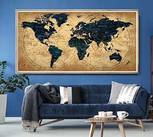 Amazon.com: Decorative extra large world map push pin travel ... on decorative nautical maps, blue wall maps, office wall maps, decorative map of usa, retro wall maps, decorative travel map, laminated wall maps, red wall maps, decorative vintage maps, decorative framed maps, long antique maps, push pin wall maps, decorative world maps, military wall maps, do it yourself state maps, home wall maps, c s hammond maps, city wall maps, wood wall maps, custom wall maps,