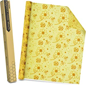 Alcoon Beeswax Food Wraps 1 Meter Roll (Flower Pattern)
