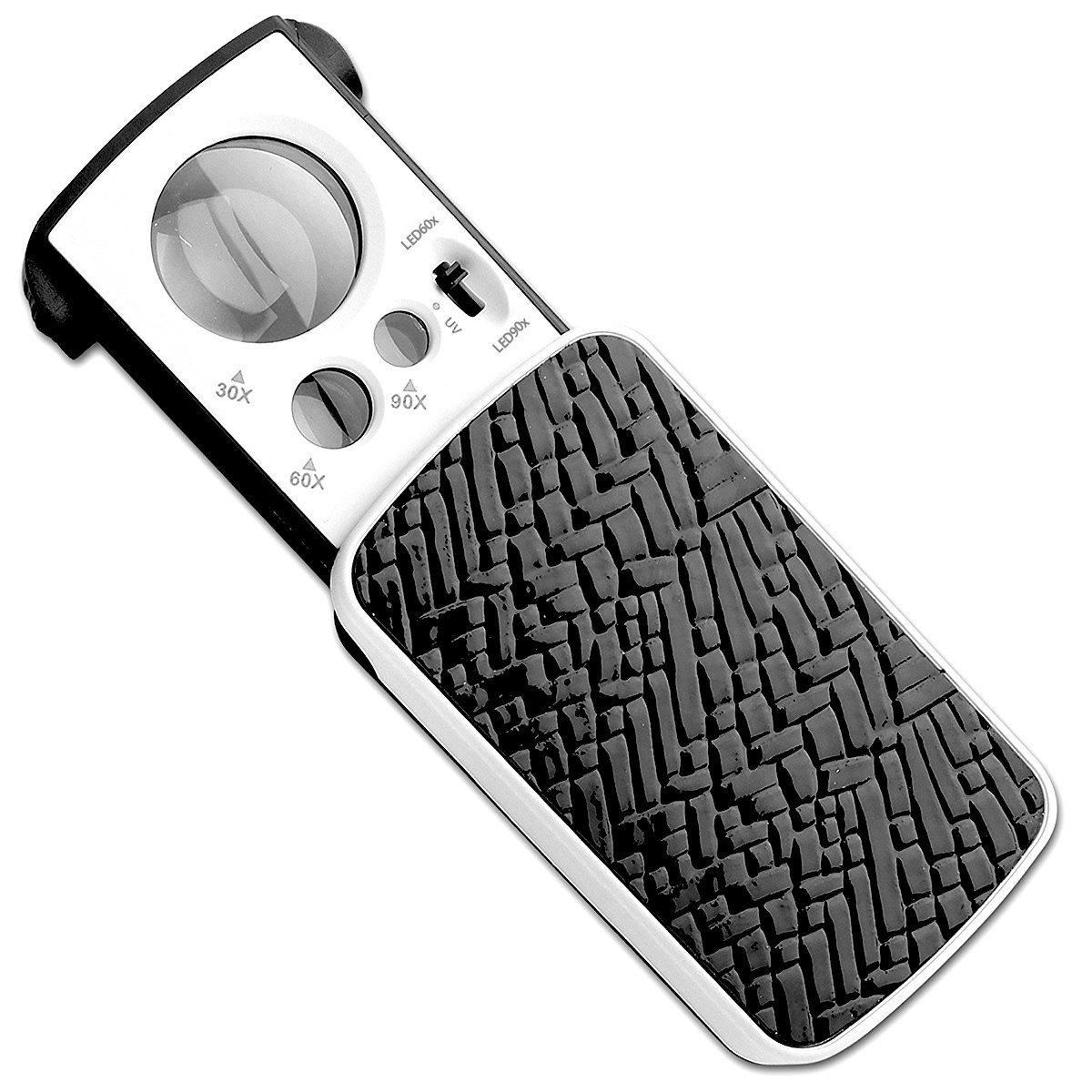 Sungpunet Jewelers Loupe, LED Iighted lente di ingrandimento 30x 60x 90x UV piccola lente d' ingrandimento portatile lente di ingrandimento–nero PHX