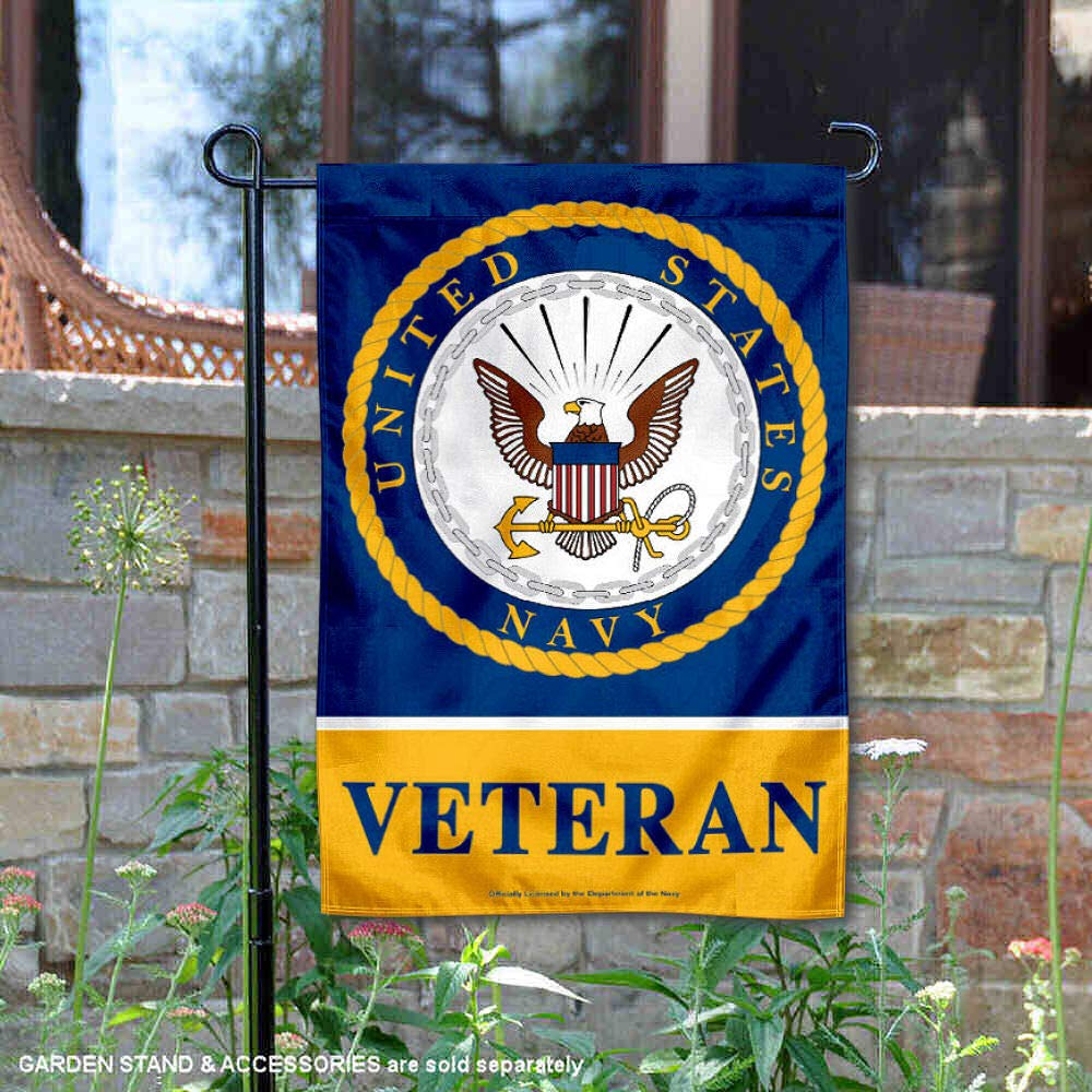 WinCraft US Navy Veteran Garden Flag