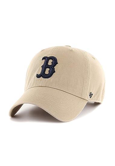 47 Brand Clean Up Boston Red Sox Cap Cap Base Cap (One Size - Khaki)   Amazon.co.uk  Clothing 6ef583025ad
