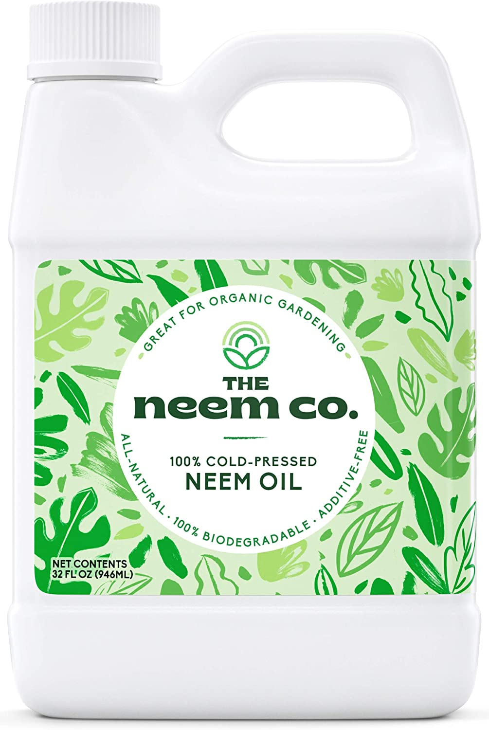 Neem Oil, 100% Organic & Pure (32 oz) - Cold Pressed Neem Seed Oil with High Azadirachtin Content: Health & Personal Care