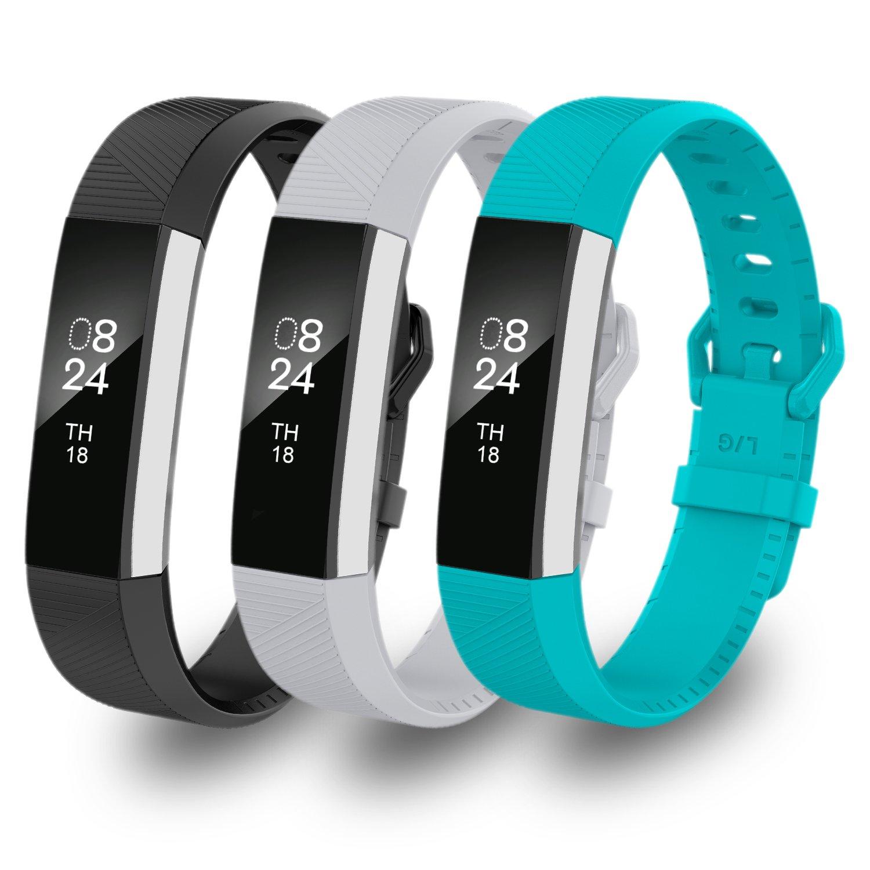 GreenInsync Fitbit ALTAバンド, Fitbit ALTA HRアクセサリー交換用バンドSmall ALTA HR Fitbit/Largeウォッチバンドfor Fitbit ALTAとFitbit ALTA HR Smartwatch Fitness Wristbands B07BFPCQ4B C25:Black Gray Teal L L|C25:Black Gray Teal, 名古屋のピアノ専門店 親和楽器:8ec298a8 --- itxassou.fr