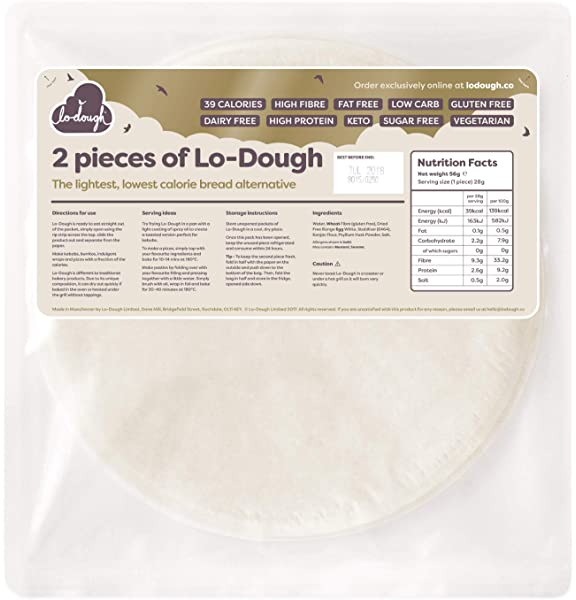 2 Pieces Of Lo Dough The Incredibly Low Calorie Bread