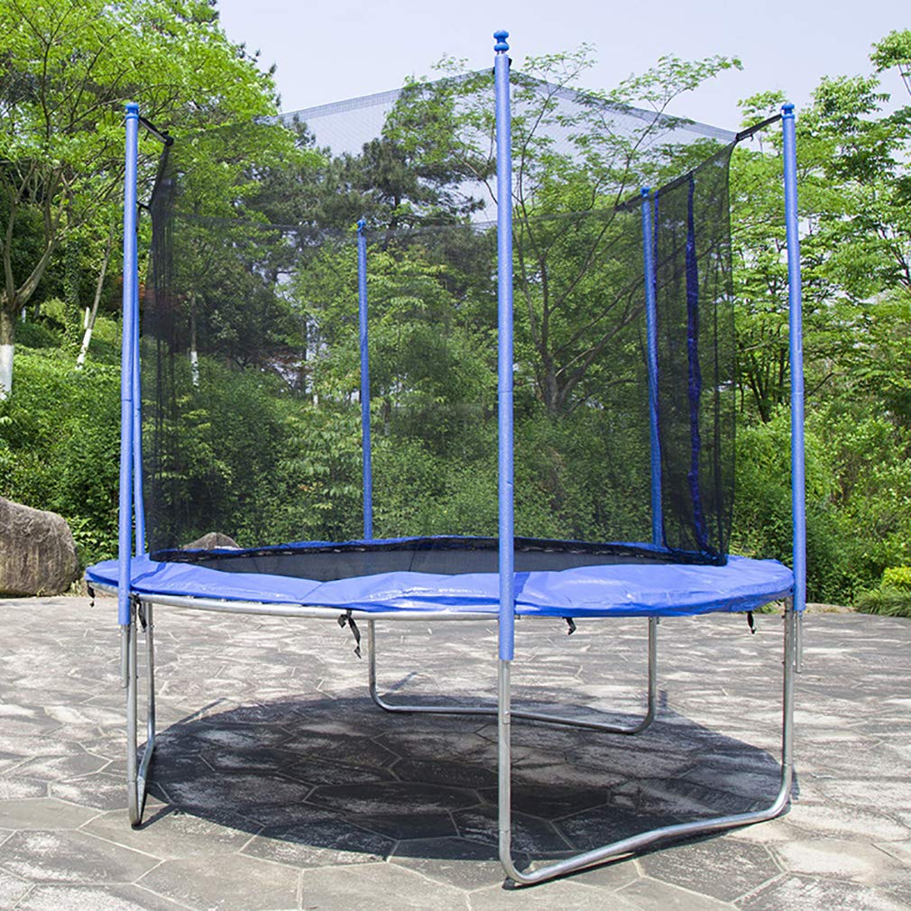 BestMassage Kid Trampoline Exercise Trampoline with Safety Enclosure net 8FT Round Jumping Table for Outdoor Activity Trampoline Fitness Equipment