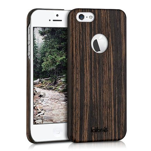 8 opinioni per kalibri custodia in legno per Apple iPhone SE / 5 / 5S- cover protettiva per