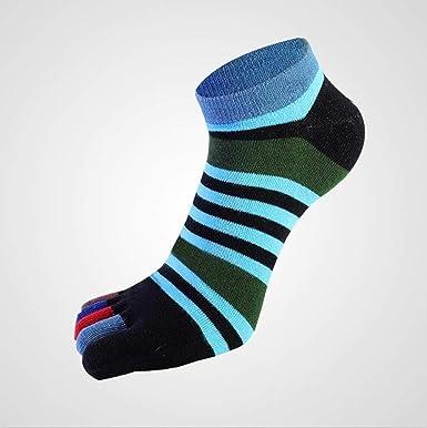 1 par/Lote Verano Hombres Calcetines Niños Algodón Calcetines Transpirables con Cinco Dedos Calcetines Puros Ideal para Cinco Zapatos con 5 Dedos, 2,38-44: Amazon.es: Ropa y accesorios