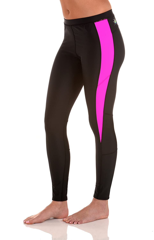 Sun Protection Swimsuits Women Tights Leggings Swim Gym Pants UV Protective UPF50+ Black Pink