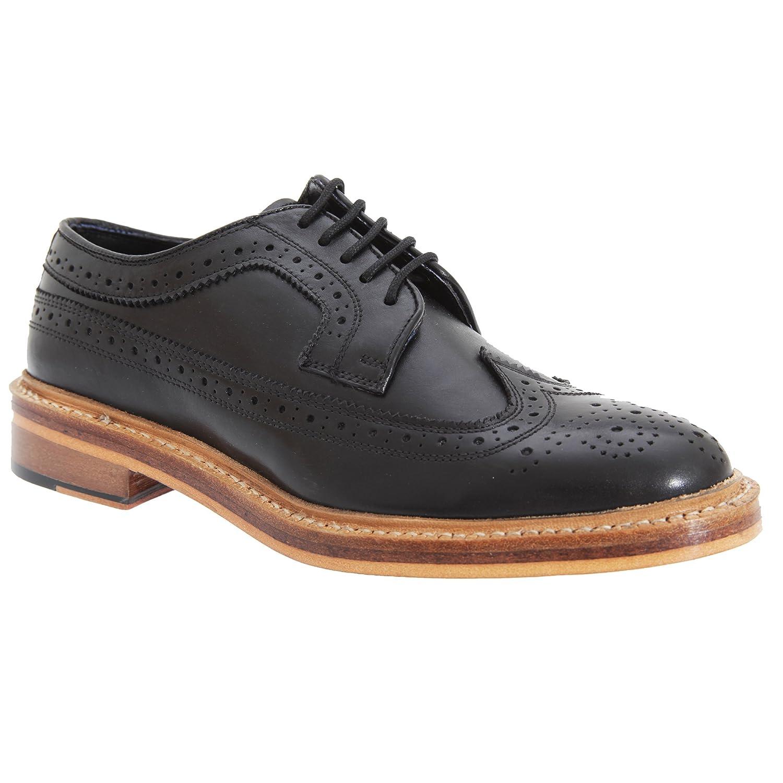 Kensington Classics - Zapatos Gibson Brogue Modelo American Todo piel hombre caballero 45 EU|Negro