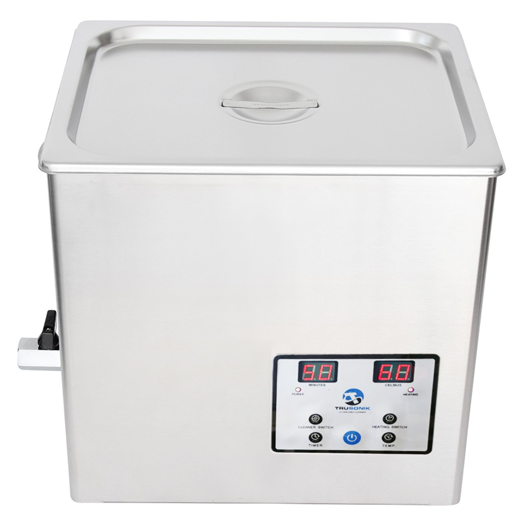 TruSonik 10L Digital Ultrasonic Cleaner With Heater | Industrial Stainless Steel Body, Tub, & Basket | Cleans Jewellery, Dental & Tattoo Equipment, Guns & Gun Parts, Car Parts & Carbs, & More