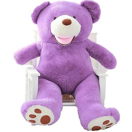 Yunnasi Super enorme morado oso de peluche juguete de peluche gigante grande Softy Morado 160cm