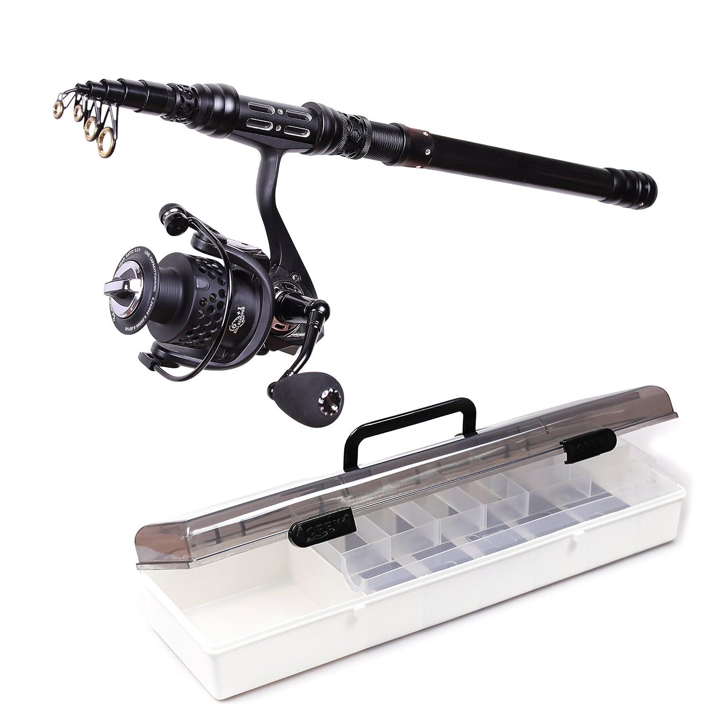 aotsuri rod Spinningロッドとリールコンボフルキット釣りポールリールラインルアーフック釣りキャリアでケースの旅行海水淡水釣り 2.4m/7.87FT ( rod reel) 2.4m/7.87FT & reel) B0779S5TQ6, トヨネムラ:30c846a8 --- ferraridentalclinic.com.lb