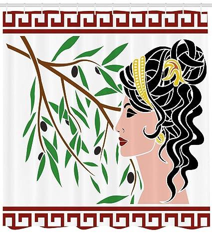 357a49a2b07e Amazon.com: Ambesonne Toga Party Shower Curtain, Mythological ...