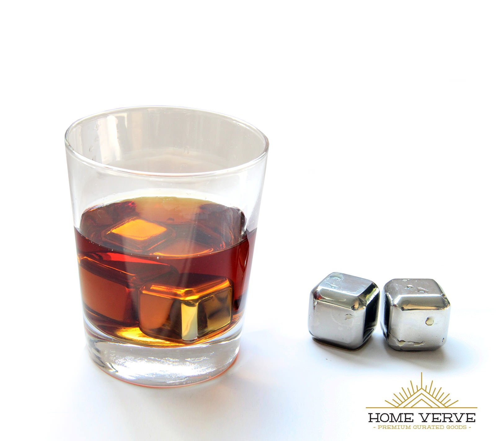 Home Verve Stainless Steel Chilling Ice Cube - A Classy, Non-diluting alternative to Ice! It will cool down your drinks without watering them down. These Chilling Ice Cubes are a great Barware and should be a part of every Barware tool sets, and every Hom