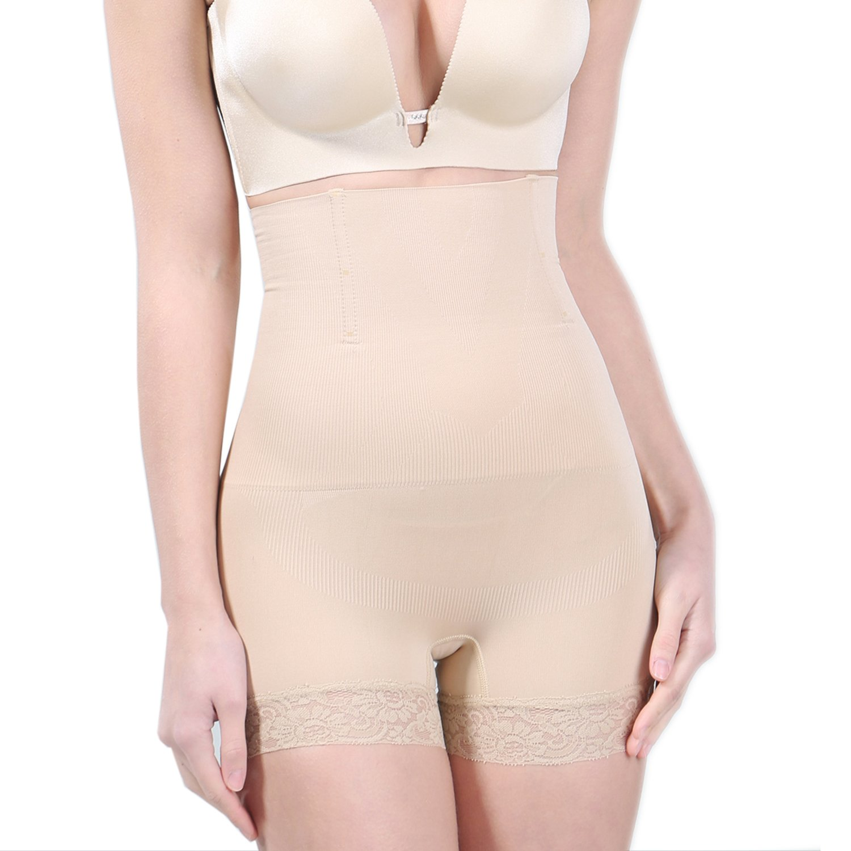 SunnySmile Women's High Waist Shapewear - Tummy Control Butt Lifter Thigh Slimmer Panties - Best 3 in 1 Body Shaper Waist Trainer Panties for Woman