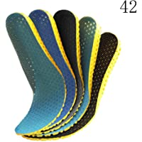 LayTmore 5 Pairs Honeycomb Breathable Sport Insoles Elastic Absorption Soft Cushions,Foot Pain Relief Insoles,Unisex…