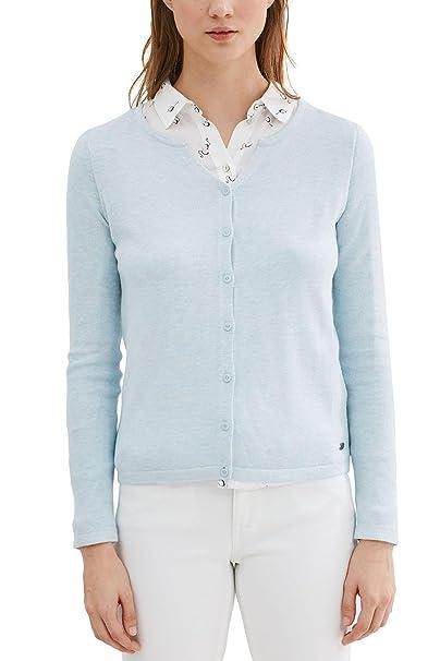 EDC by Esprit 126cc1i016, Chaqueta Punto para Mujer, Blanco (Off White), 36 (Talla del Fabricante: Small)