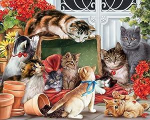 Garden Cats Jigsaw Puzzle 1000 Piece