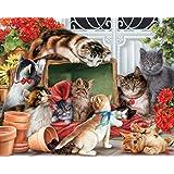 Vermont Christmas Company Garden Cats Jigsaw Puzzle 1000 Piece