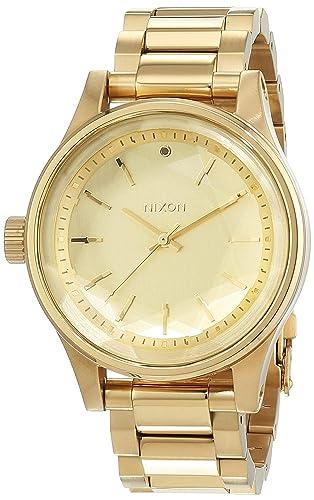 NIXON Reloj Analógico para Mujer de Cuarzo con Correa en Acero Inoxidable A409502: Nixon: Amazon.es: Relojes