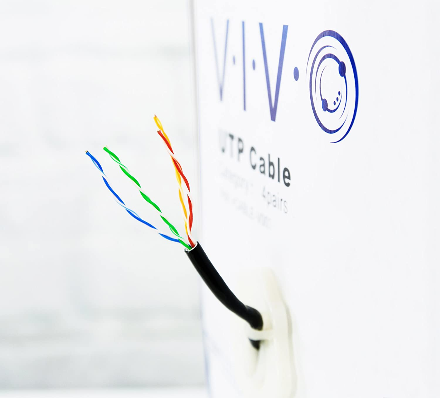 Vivo New 1000 Ft Cat6 Ethernet Cable Wire 1000ft Cat 6 Pins And Wires Labelled For Power Over Waterproof Outdoor Direct Burial Underground V007 Computers Accessories
