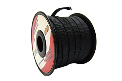 Magnificent Amazon Com Black 3 8 100Ft Braided Expandable Flex Sleeve Wiring Wiring Cloud Xeiraioscosaoduqqnet