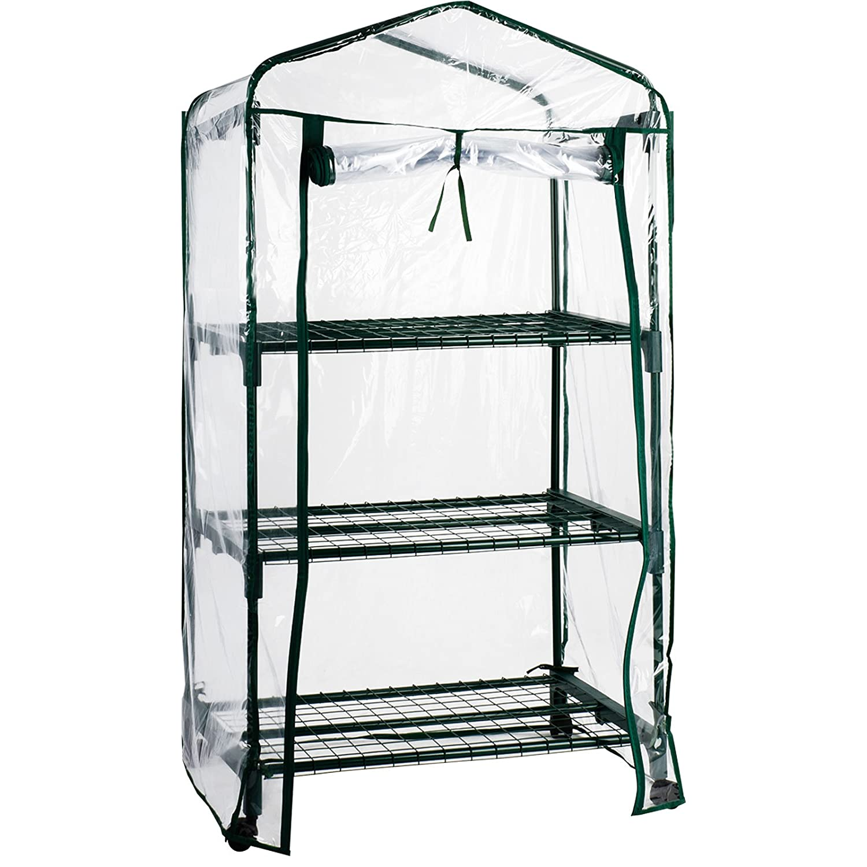 casa pura Mini Greenhouse Casabella (2 Tier - 68x49x96cm) | Portable Grow Tent, Available in 3 Sizes