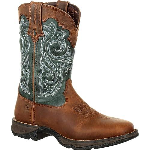60dc972c80f Durango Women's Lady Rebel Waterproof Western Boot Square Toe - Drd0312